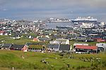 Overview of harbor, Torshavn, Faroe Islands