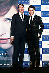 (L to R) Director Tom Hooper and actor Eddie Redmayne pose for a photograph during the Japan premiere of The Danish Girl on March 9, 2016, Tokyo, Japan. Eddie Redmayne with his wife Hannah Bagshawe came to Japan to greet fans during the red carpet for the movie The Danish Girl. The film was nominated in four categories at the Academy Awards with Best Supporting Actress going to Alicia Vikander. Redmayne who won Best Actor at the Academy Awards in 2015 lost out this year in the Best Actor category to Leonardo DiCaprio. The film hits Japanese theaters on March 18. (Photo by Rodrigo Reyes Marin/NipponNews.net)