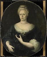 Portrait of Elisabeth van Oosten (1660-1714). Wife of Abraham van Riebeeck, anonymous, c. 1700