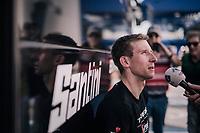 post-race interview for Bauke Mollema  (NED/Trek-Segafredo)<br /> <br /> 104th Liège - Bastogne - Liège 2018 (1.UWT)<br /> 1 Day Race: Liège - Ans (258km)