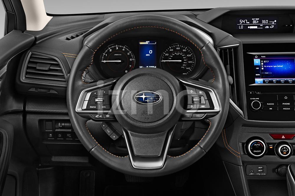 Car pictures of steering wheel view of a 2020 Subaru Crosstrek Premium 5 Door SUV Steering Wheel