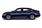 Car driver side profile view of a 2019 Volkswagen Arteon SEL 5 Door Hatchback