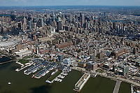 aerial photograph Chelsea Piers, midtown Manhattan skyline, New York City