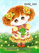 Kayomi, CHILDREN, KINDER, NIÑOS, paintings+++++,USKH344,#k#, EVERYDAY