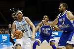 Argentina´s Herrmann (L) and Greece´s Antetokounmpo and Vougioukas during FIBA Basketball World Cup Spain 2014 match between Argentina and Greece at Sevilla stadium in Sevilla, Spain. September 04, 2014. (ALTERPHOTOS/Victor Blanco)