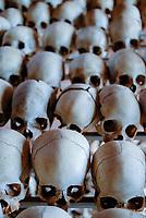 RWANDA Genocide memorial Ntarama , during the genocide in april 1994 about 5000 Tutsi people were killed by Hutu murder in this church / RUANDA Ntarama , Mahnmal fuer die Opfer des Genozid 1994 , waehrend des Voelkermord wurden in der Kirche von Ntarama ca. 5000 Zuflucht suchende Tutsi Maenner Frauen und Kinder im April 1994 von Hutu Milizen ermordet
