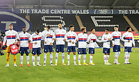 SWANSEA, WALES - NOVEMBER 12: USMNT starting eleven during a game between Wales and USMNT at Liberty Stadium on November 12, 2020 in Swansea, Wales.