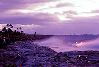 Lava flows at Kamoamoa, Hawaii Volcanoes National Park, Big Island