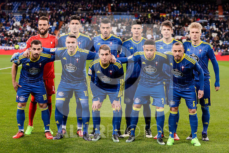 Celta de Vigo's players during Copa del Rey match between Real Madrid and Celta de Vigo at Santiago Bernabeu Stadium in Madrid, Spain. January 18, 2017. (ALTERPHOTOS/BorjaB.Hojas)