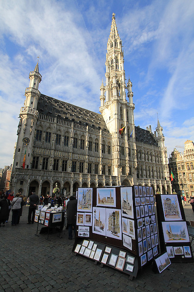 Artist's paintings in the Grand Place (town square), morning in downtown Brussels, Belgium. .  John offers private photo tours in Denver, Boulder and throughout Colorado, USA.  Year-round. .  John offers private photo tours in Denver, Boulder and throughout Colorado. Year-round.