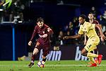 Lionel Andres Messi (L) of FC Barcelona is tackled by Ruben Afonso Borges Semedo of Villarreal CF during the La Liga 2017-18 match between Villarreal CF and FC Barcelona at Estadio de la Ceramica on 10 December 2017 in Villarreal, Spain. Photo by Maria Jose Segovia Carmona / Power Sport Images