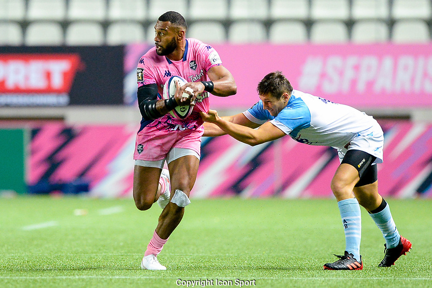Sefanaia NAIVALU of Stade Francais during the Top 14 match between Stade Francais and Bayonne at Stade Jean Bouin on October 02, 2020 in Paris, France. (Photo by Sandra Ruhaut/Icon Sport) - Stade Jean Bouin - Paris (France)