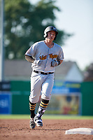 West Virginia Black Bears third baseman Nick Valaika (10) rounds the bases after hitting a home run in the top of the ninth inning during a game against the Batavia Muckdogs on July 1, 2018 at Dwyer Stadium in Batavia, New York.  Batavia defeated West Virginia 8-4.  (Mike Janes/Four Seam Images)
