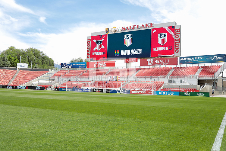 SANDY, UT - JUNE 10: Rio Tinto before a game between Costa Rica and USMNT at Rio Tinto Stadium on June 10, 2021 in Sandy, Utah.