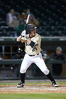 Chris Lanzilli (24) of the Wake Forest Demon Deacons at bat against the Charlotte 49ers at BB&T BallPark on March 13, 2018 in Charlotte, North Carolina.  The 49ers defeated the Demon Deacons 13-1.  (Brian Westerholt/Four Seam Images)