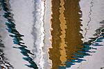 Boat reflection, Seattle, Washington