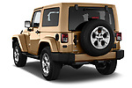 Car pictures of rear three quarter view of 2017 JEEP wrangler Sahara 5 Door SUV Angular Rear