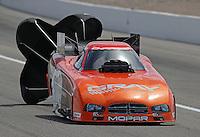 Apr. 6, 2013; Las Vegas, NV, USA: NHRA funny car driver Johnny Gray during qualifying for the Summitracing.com Nationals at the Strip at Las Vegas Motor Speedway. Mandatory Credit: Mark J. Rebilas-