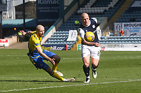 3rd April 2021; Dens Park, Dundee, Scotland; Scottish FA Cup Football, Dundee FC versus St Johnstone; Charlie Adam of Dundee goes past Shaun Rooney of St Johnstone