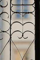 Poland, Krakow, Wrought iron gate