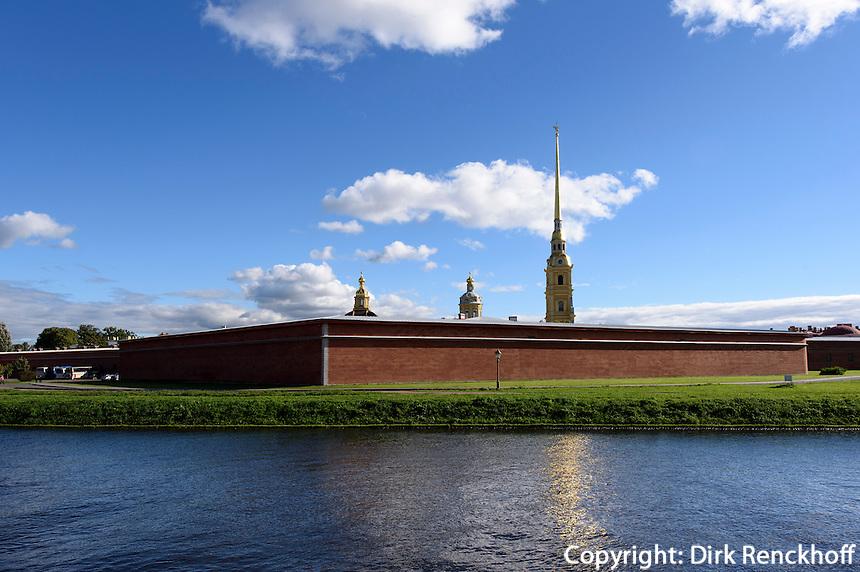 Peter und Paul-Festung auf der Haseninsel, St. Petersburg, Russland, UNESCO-Weltkulturerbe
