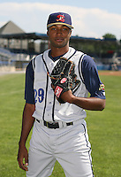 2007:  Moises Robles of the State College Spikes poses for a photo prior to a game vs. the Batavia Muckdogs in New York-Penn League baseball action.  Photo By Mike Janes/Four Seam Images