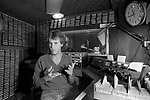 Pirate radio station Radio Laser off the coast of Felixstowe Suffolk in international waters 1980s UK. DJ David Lee Stone.  1984