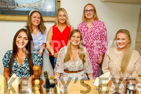 Enjoying the evening in Bella Bia on Friday. <br /> Ashley Silies, Marie O'Connell and Niamh McDonnell<br /> Back l to r: Molly O'Donnell, Shandon Sugrue and Olive Brick.