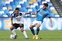 Alejandro Dario Gomez of Atalanta BC and Dries Mertens of SSC Napoli compete for the ball<br /> during the Serie A football match between SSC Napoli and Atalanta BC at stadio San Paolo in Napoli (Italy), October 17th, 2020. <br /> Photo Cesare Purini / Insidefoto