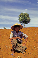 A young farmer in the northern part of Myanmar Burma.