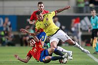 Spain's David Jimenez Silva (l) and Colombia's Edwin Cardona during international friendly match. June 7,2017.(ALTERPHOTOS/Acero) (NortePhoto.com) (NortePhoto.com)