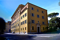 Palace of the Court seat of the Vatican gendarmerie command<br /> The Vatican's gendarme corps  of Vatican City State (Italian: Corpo della Gendarmeria dello Stato della Città del Vaticano) is the gendarmerie, or police and security force, of Vatican City and the extraterritorial properties of the Holy See.<br /> The 130-member corps is led by an Inspector General, currently Domenico Giani,The corps is responsible for security, public order, border control, traffic control, criminal investigation, and other general police duties in Vatican City.2019