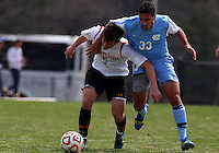 COLLEGE PARK, MD - April 05 2014: University of Maryland vs the University of North Carolina in a spring season college friendly at Ludwig Field, in College Park, Maryland.