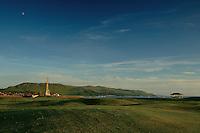 Byne Hill from Girvan Esplanade at dusk, Girvan, Ayrshire<br /> <br /> Copyright www.scottishhorizons.co.uk/Keith Fergus 2011 All Rights Reserved