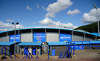 A general view of The John Smith's Stadium, home of Huddersfield Town<br /> <br /> Photographer Andrew Vaughan/CameraSport<br /> <br /> The Carabao Cup First Round - Huddersfield Town v Lincoln City - Tuesday 13th August 2019 - John Smith's Stadium - Huddersfield<br />  <br /> World Copyright © 2019 CameraSport. All rights reserved. 43 Linden Ave. Countesthorpe. Leicester. England. LE8 5PG - Tel: +44 (0) 116 277 4147 - admin@camerasport.com - www.camerasport.com