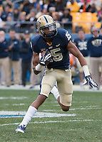 Pitt wide receiver Devin Street. The North Carolina Tar Heels defeated the Pitt Panthers 34-27 at Heinz Field, Pittsburgh Pennsylvania on November 16, 2013.