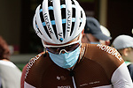 Romain Bardet (FRA) AG2R La Mondiale at sign on before Stage 3 of the Route d'Occitanie 2020, running 163.5km from Saint-Gaudens to Col de Beyrède, France. 3rd August 2020. <br /> Picture: Colin Flockton | Cyclefile<br /> <br /> All photos usage must carry mandatory copyright credit (© Cyclefile | Colin Flockton)