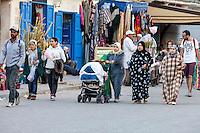 Essaouira, Morocco.  Women Walking in Avenue de l'Istiqlal.