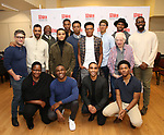 "The cast and creative team during the MTC Broadway Cast Call for ""Choir Boy"" at The MTC Rehearsal Studios on November 20, 2018 in New York City."