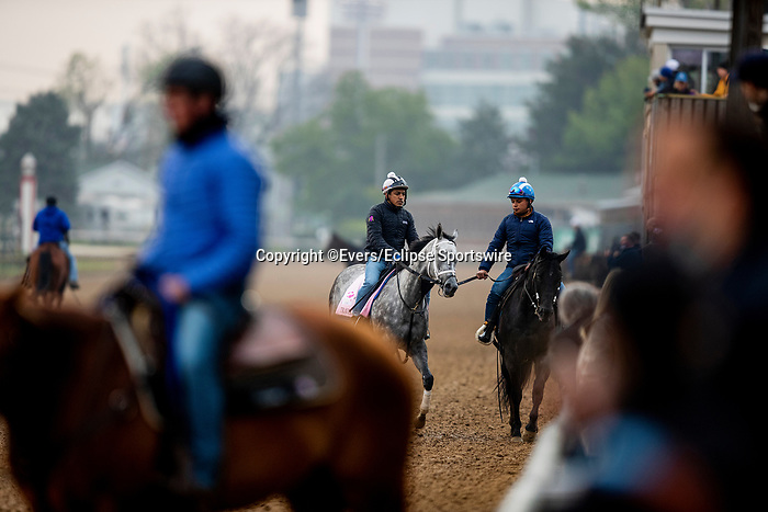 April 25, 2021:  Travel Column jogs in preparation for the Kentucky Oaks at Churchill Dows in Louisville, Kentucky on April 25, 2021. EversEclipse Sportswire/CSM