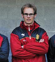 Qualification Women's Euro 2013 - Belgium - Iceland ; Belgie - Ijsland ; Armand Melis Stadion Dessel :.keeperstrainer Sven Cnudde.foto DAVID CATRY / Vrouwenteam.be