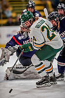 9 February 2018: University of Vermont Catamount Forward Saana Valkama, a Junior from Pirkkala, Finland, in second period action against the University of Connecticut Huskies at Gutterson Fieldhouse in Burlington, Vermont. The Lady Cats defeated the Huskies 1-0 the first game of their weekend Hockey East series. Mandatory Credit: Ed Wolfstein Photo *** RAW (NEF) Image File Available ***