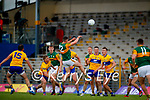 during the Munster Football Championship game between Kerry and Clare at Fitzgerald Stadium, Killarney on Saturday.
