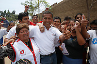 Presidential candidate Ollanta Humala in campaign in Trujillo, Peru, Tuesday, March 22, 2011.