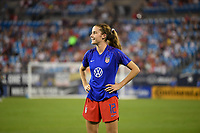 CHARLOTTE, NC - OCTOBER 03: Tierna Davidson #12 of the United States warms up during their game versus Korea Republic at Bank of American Stadium, on October 03, 2019 in Charlotte, NC.