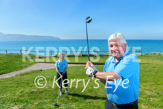Mary Sills and Sean O'Connor President of Castlegregory Golf club pictured on Monday when golf clubs were allowed to reopen.