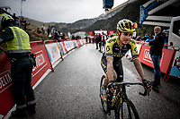 Esteban Chavez (COL/Mitchelton-Scott) after finishing the stage where the weather turned foul in the finale<br /> <br /> Stage 9: Andorra la Vella to Cortals d'Encamp (94km) - ANDORRA<br /> La Vuelta 2019<br /> <br /> ©kramon