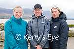 Enjoying a stroll in Lohercannon on Monday morning, l to r: Sarah Carey, Aaron O'Keeffe and Emma Corkey.