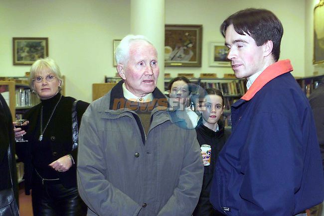 John Conlon and Seamus Counihan at the launch of the new book by the drogheda camera club.Pic Fran Caffrey Newsfile