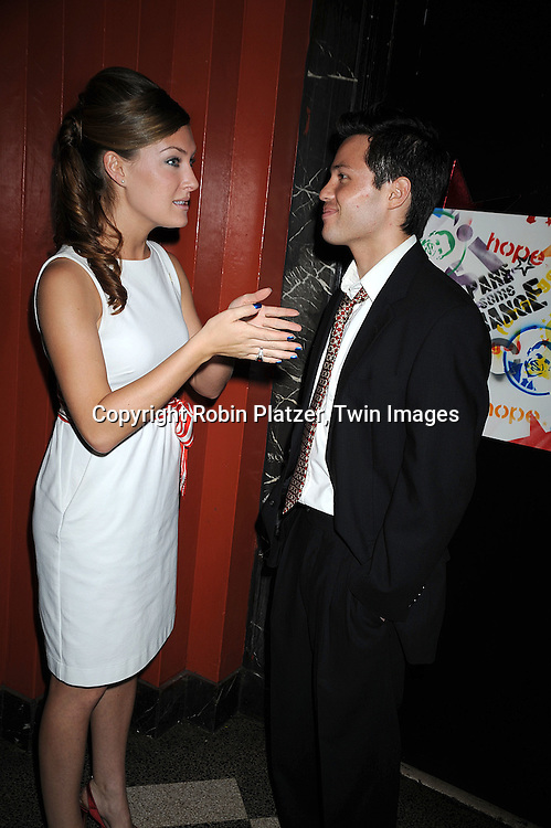 """One Life to Live's BethAnn Bonner and One Life to Live's Jason Tam ..at The """"Spare Some Change:NYC Artists for Barack Obama""""  fundraiser on August 11, 2008 at The Fifth Floor Theatre at New York University. ....Robin Platzer, Twin Images"""